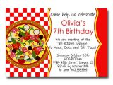 Office Pizza Party Invitation Template Custom Pizza Party Red Checker Birthday Party Invitation Card