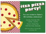 Office Pizza Party Invitation Template Itza Pizza Party Invitations Paperstyle