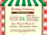 Office Pizza Party Invitation Template Pizza and Birthday Party Invitation Design Template Stock