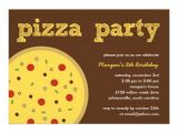 Office Pizza Party Invitation Template Pizza Party Invitation 5 Quot X 7 Quot Invitation Card Zazzle