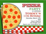 Office Pizza Party Invitation Template Pizza Party Invitation Printable or Printed with Free Shipping