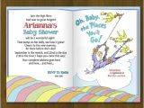 Oh the Places You Ll Go Baby Shower Invitations Dr Seuss Oh Baby Places You Ll Go Baby Shower Invitation
