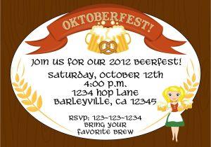 Oktoberfest Party Invitation Templates Creative Oktoberfest Beerfest Invitation Template Design