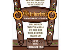 Oktoberfest Party Invitation Templates Funny Lederhosen Oktoberfest Party Invitations 5 Quot X 7