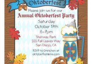 Oktoberfest Party Invitation Templates Oktoberfest Party Invitations 5 25 Quot Square Invitation Card