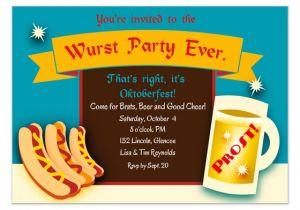 Oktoberfest Party Invitation Templates Wurst Party Oktoberfest Invitation Invitations Cards On