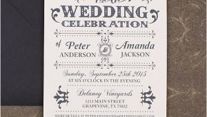 Old Fashioned Wedding Invitation Template Old Fashioned Typography Wedding Invitation Download Print