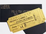 Old Hollywood Party Invitations Old Hollywood Art Deco Gold Movie Ticket Invitation Sample