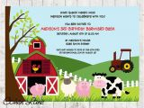 Old Macdonald Had A Farm Birthday Invitations Farm Birthday Invite Barnyard Birthday Invitation Farm