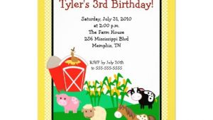 "Old Macdonald Had A Farm Birthday Invitations Old Macdonald Farm Eieio 5×7 Birthday Invitation 5"" X 7"