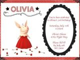 Olivia the Pig Birthday Invitations 20 Best Olivia the Pig Party Images On Pinterest Pig