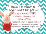 Olivia the Pig Birthday Invitations Olivia the Pig Birthday Invitations Dolanpedia