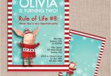 Olivia the Pig Birthday Invitations Olivia the Pig Winter Birthday Invitation and Thank You