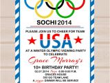 Olympic Birthday Party Invitations Free Items Similar to Printable Olympic Party Invitation On Etsy
