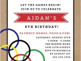 Olympic Birthday Party Invitations Free Olympic Birthday Party Invitation Sports Invitations