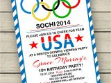 Olympic Birthday Party Invitations Free Printable Olympic Party Invitation