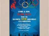 Olympic Birthday Party Invitations Items Similar to Sale Olympic Games Party Invitation