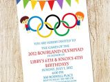 Olympic Birthday Party Invitations Olympic Party Invitation Olympics Birthday Invitation Digial