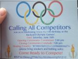 Olympic Birthday Party Invitations Olympic themed Birthday Party Pinterest Addict