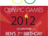 Olympic Birthday Party Invitations Printable Olympic Birthday Invitation by Netsyandcompany On Etsy