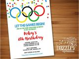 Olympic Birthday Party Invitations Printable Olympic Games Birthday Invitation Kids