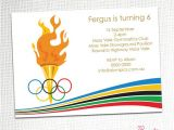 Olympic Birthday Party Invitations Printable Olympic Party Invitation by Party Printables Catch My Party