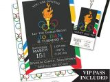 Olympic Birthday Party Invitations Printable Olympic Party Invitation with Vip Pass by Party Printables