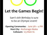 Olympic Party Invitation Template Olympic Birthday Invitation Olympic Birthday Party