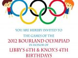 Olympic Party Invitation Template Olympic Party Invitation Olympics Birthday Invitation Digial
