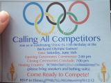 Olympic Party Invitation Template Olympic themed Birthday Party Pinterest Addict