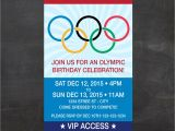 Olympic Party Invitation Template Olympics Ticket Birthday Invite Let the Games Begin Custom