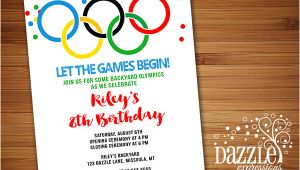 Olympic Party Invitation Template Printable Kids Olympic Games Birthday Invitation Free
