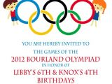 Olympic themed Birthday Party Invitations Olympic Party Invitation Olympics Birthday Invitation Digial