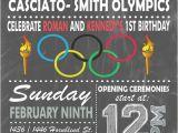 Olympic themed Birthday Party Invitations Olympic themed Invitation Digital or Printed Option