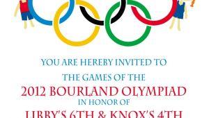 Olympics Birthday Party Invitations Olympic Party Invitation Olympics Birthday Invitation Digial