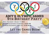 Olympics Party Invitation Dobber Blog 3 Amy 39 S 9th Birthday Party Olympics