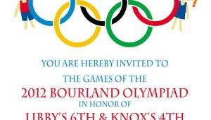 Olympics Party Invitations Printable Olympic Party Invitation Olympics Birthday by Peachymommy