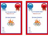 Olympics Party Invitations Printable Olympics Birthday Invitations Birthday Printable