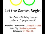Olympics themed Party Invitations An Olympic Birthday Party Profoundly ordinary