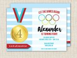 Olympics themed Party Invitations Olympics Birthday Party Invitation Olympics Party Sports