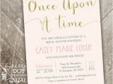 Once Upon A Time Bridal Shower Invitations Ce Upon A Time Bridal Shower Invitation Custom by