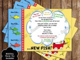 One Fish Two Fish Baby Shower Invitations Novel Concept Designs Dr Seuss E Fish Two Fish Baby