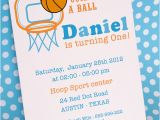 One Page Birthday Invitation Template Diy Printable Invitation Card Basketball Birthday Party