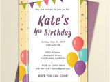 One Page Birthday Invitation Template Free Email Birthday Invitation Template Word Psd