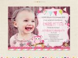 One Page Birthday Invitation Template Look who 39 S Turning One Owl Birthday Invitation First