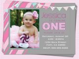 One Year Birthday Party Invitations 1st Birthday Invitations Girl Modern One Year by Cupcakedream