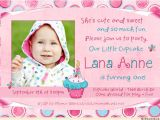 One Year Old Birthday Quotes for Invitations Sweet Cupcake Birthday Invitation Cute Polka Dots 1 Year