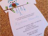 Onesie Baby Shower Invitations for Baby Boy Baby Shower Invitation Esie with Baby Boy Owl
