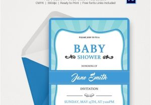 Online Editable Baby Shower Invitations Baby Shower Invitation Template 22 Free Psd Vector Eps