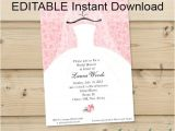 Online Editable Wedding Invitation Cards Free Download Bridal Shower Invitations Free Editable Bridal Shower